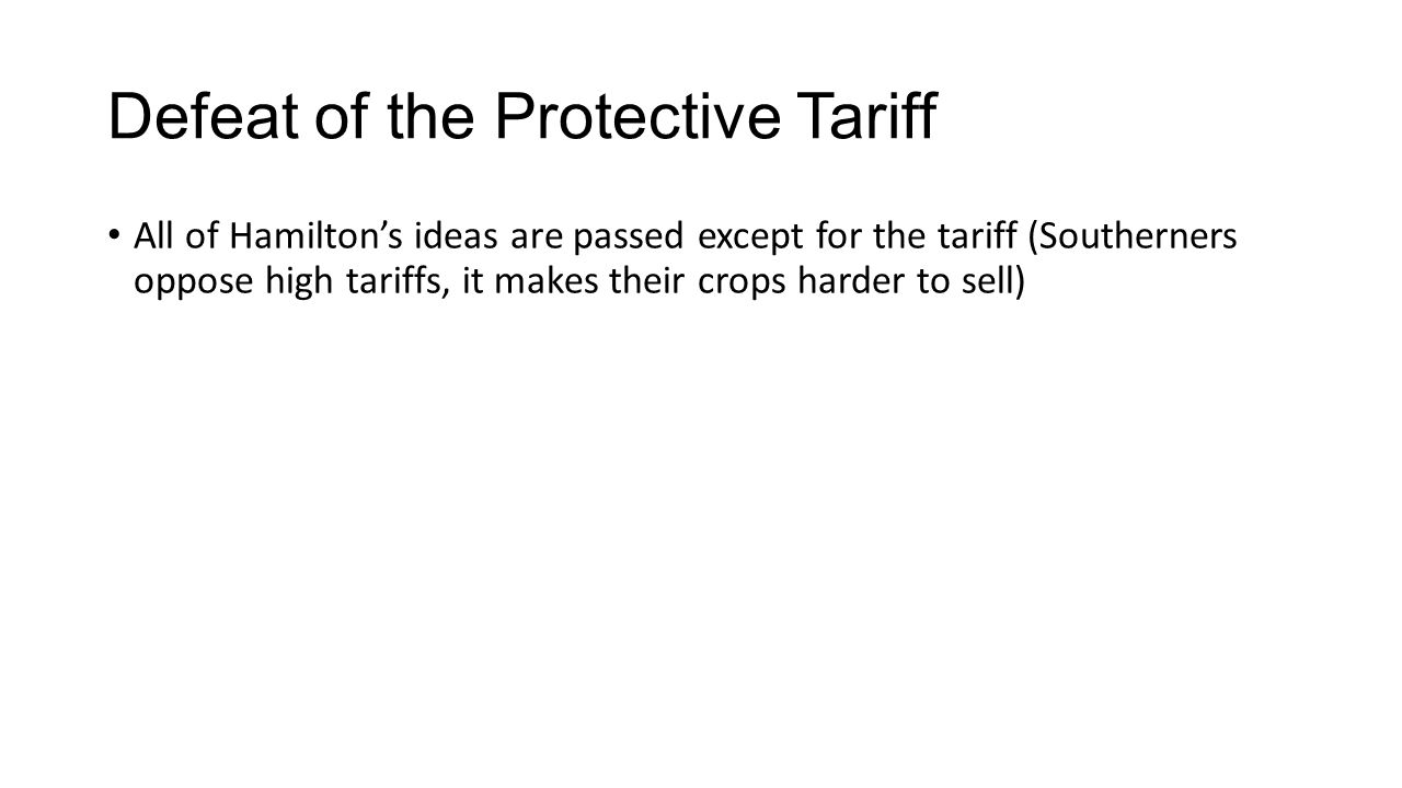 Defeat of the Protective Tariff