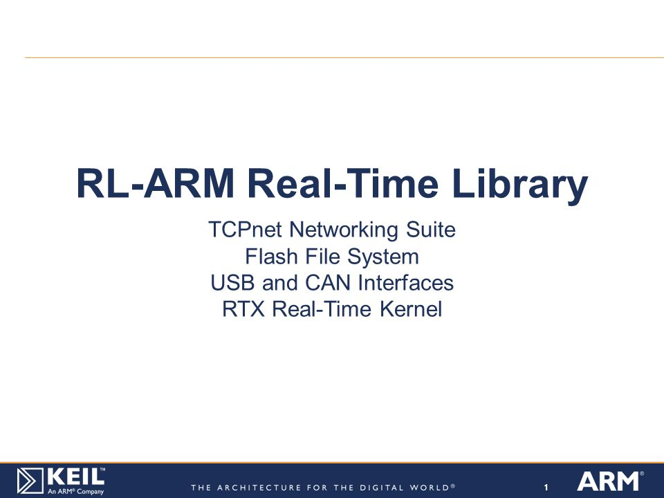 RL-ARM Real-Time Library