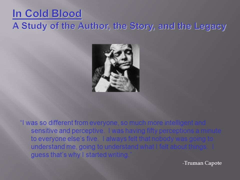 Book Analysis: In Cold Blood