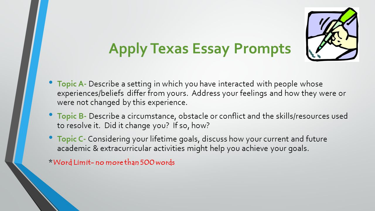University of texas essay word limit