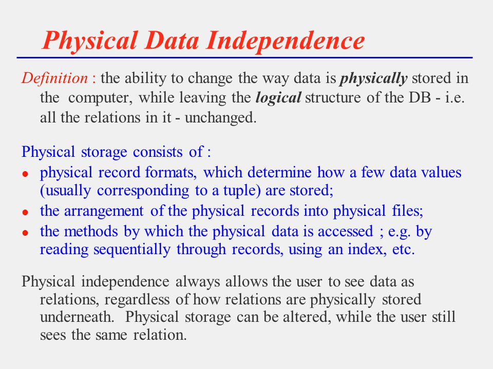 data independence in dbms with example pdf