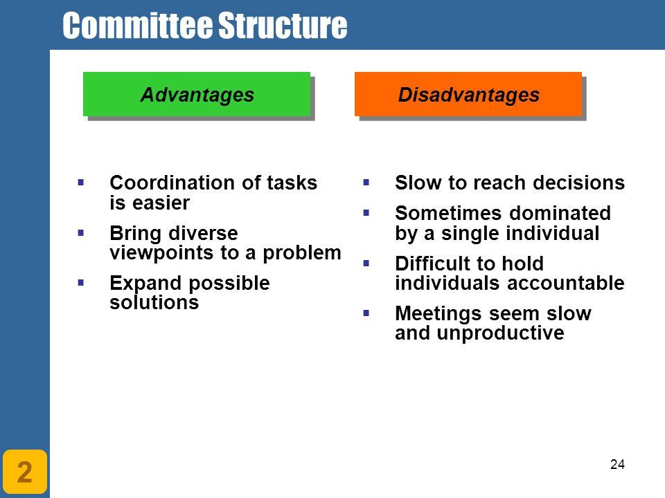 advantages and disadvantages of team structure Mgmt - ch 9 organizational structure  known as team structure  advantages/disadvantages to methods of selecting committees.