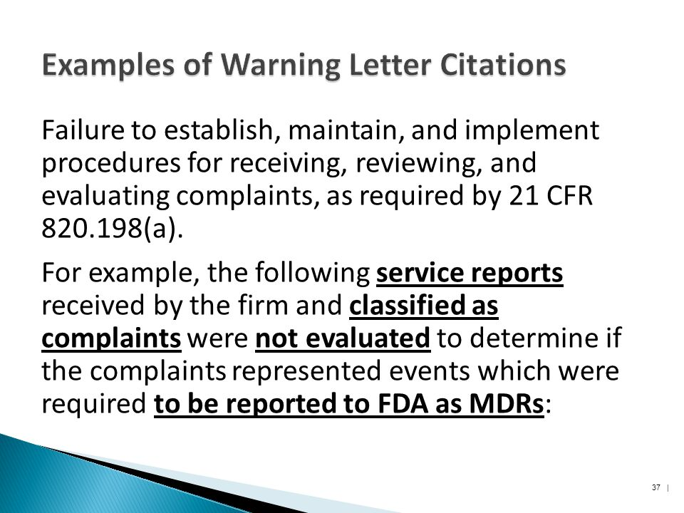 a warning letter example
