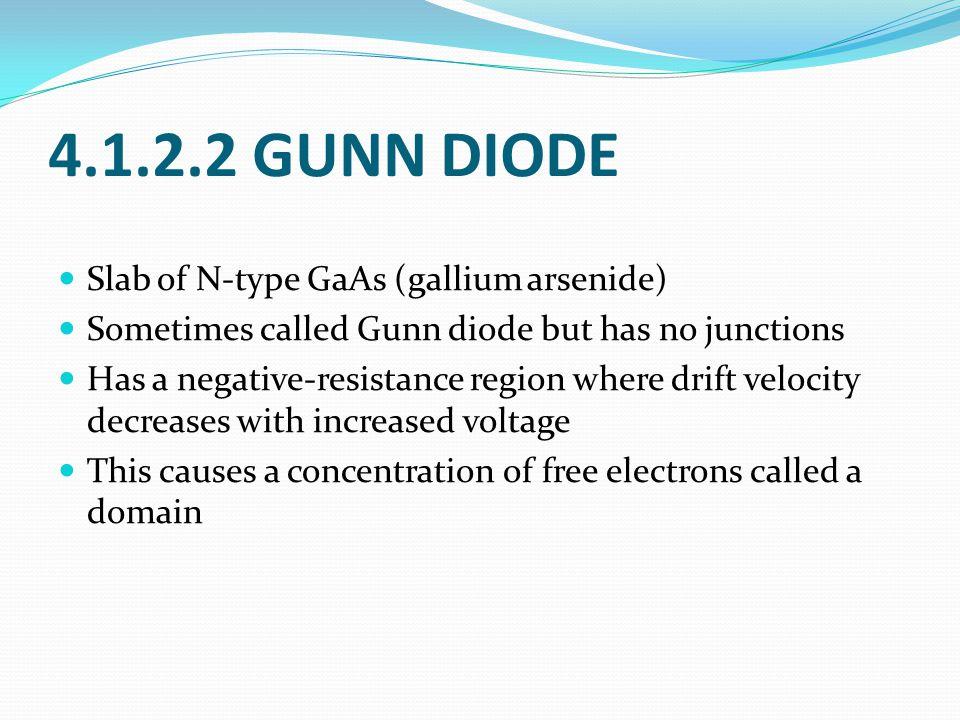 4.1.2.2 GUNN DIODE Slab of N-type GaAs (gallium arsenide)
