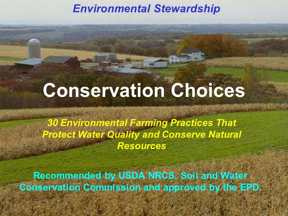 erosion fertilizer and conservation stewardship program