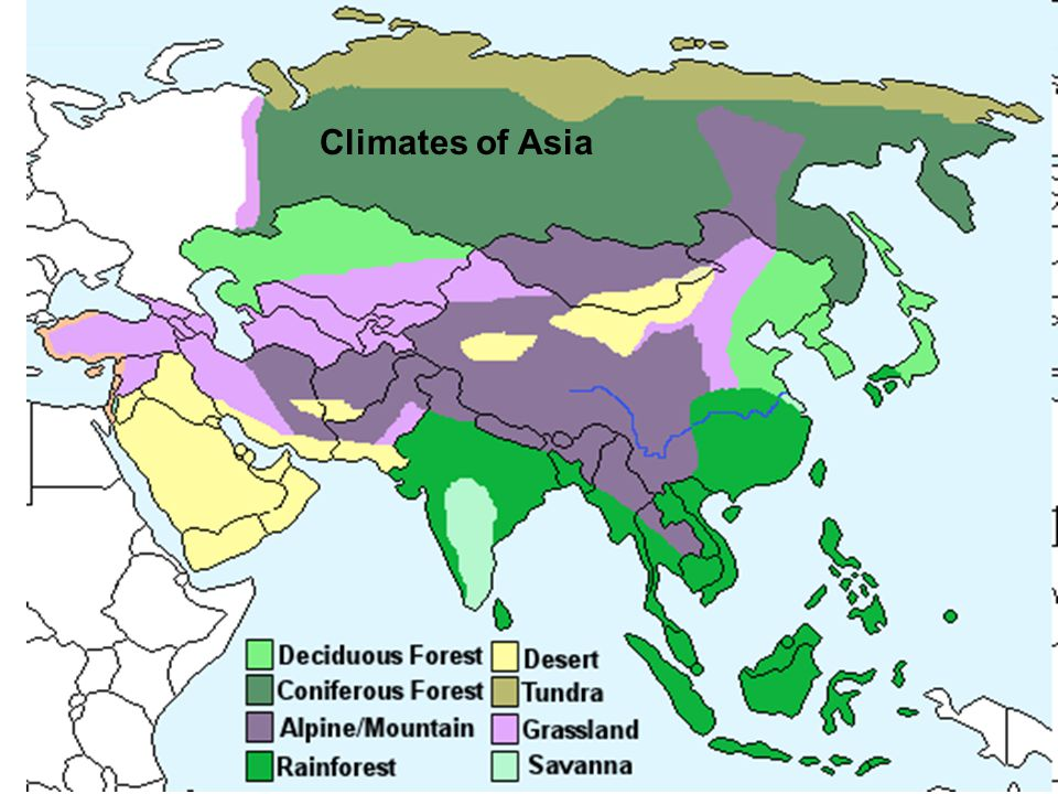 Climates of Asia