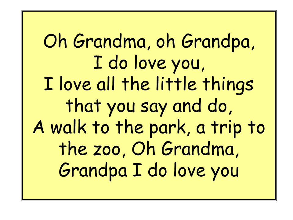 how to say grandma and grandpa in italian