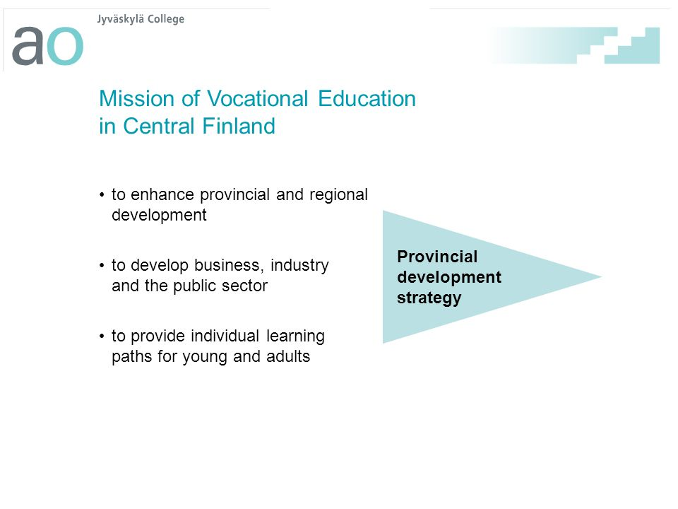 Mission of Vocational Education in Central Finland