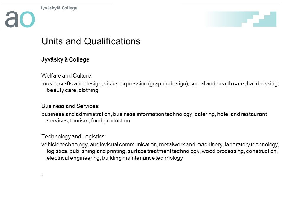 Units and Qualifications