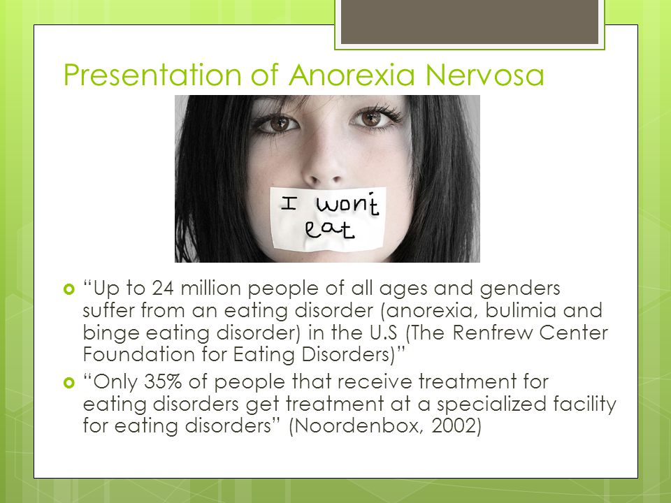 persuasive essays on anorexia nervosa Free essays from bartleby | anorexia nervosa is a life threatening eating disorder defined by a refusal to maintain fifteen percent of a normal body weight.