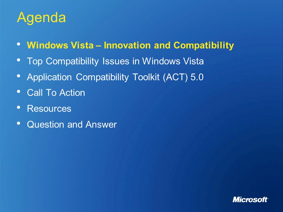 Wcl201 Windows Vista Application Compatibility And The