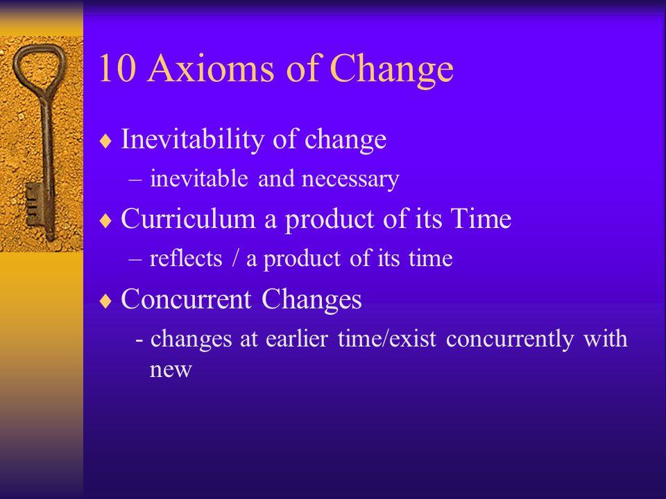 10 Axioms of Change Inevitability of change