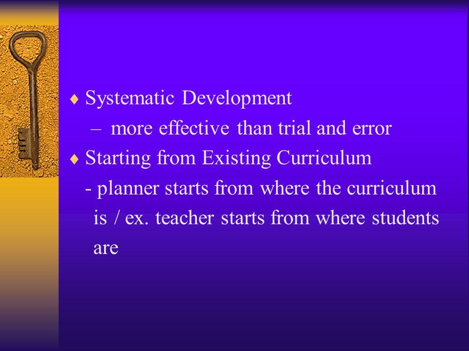 Systematic Development