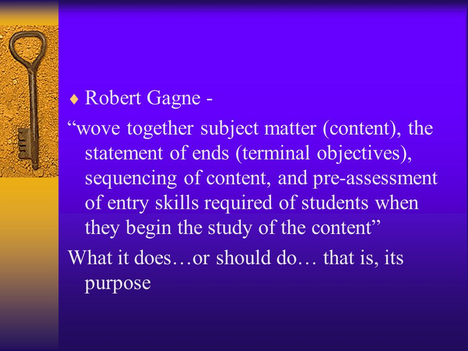 Robert Gagne -