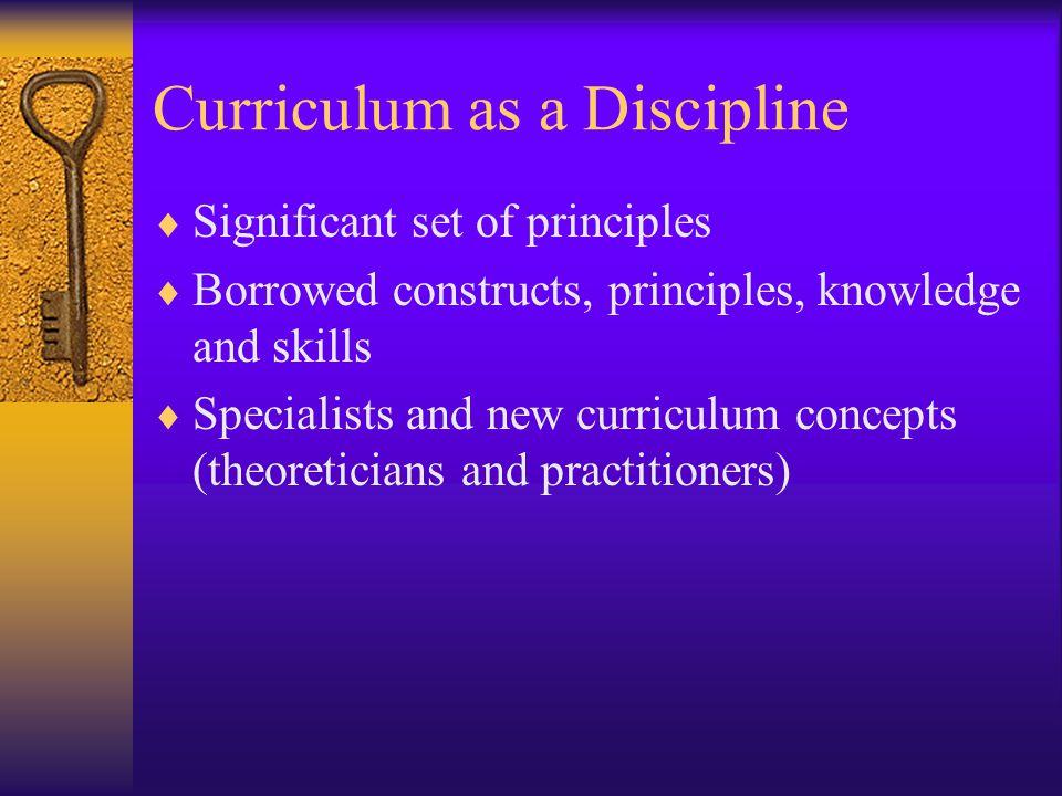 Curriculum as a Discipline