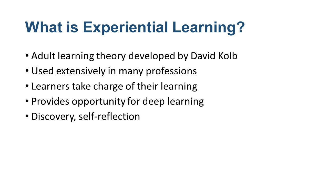 reflection adult learning theories A four-stage cyclical theory of learning, kolb's experiential learning theory is a holistic perspective that combines experience, perception, cognition, an.