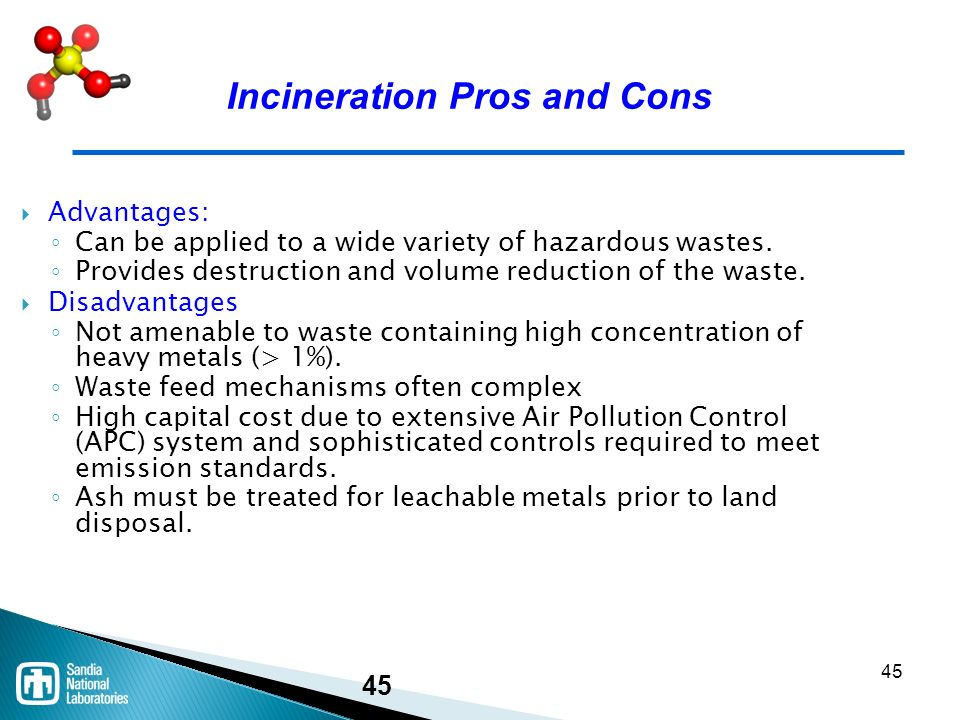 Treatment Technologies for Newly Generated Hazardous Waste ...
