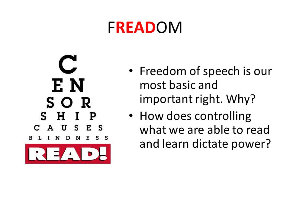 freedom of speech and why it Amendment i freedom of religion, speech, press, assembly, and petition passed by congress september 25, 1789 ratified december 15, 1791 the first 10 amendments form the bill of rights.