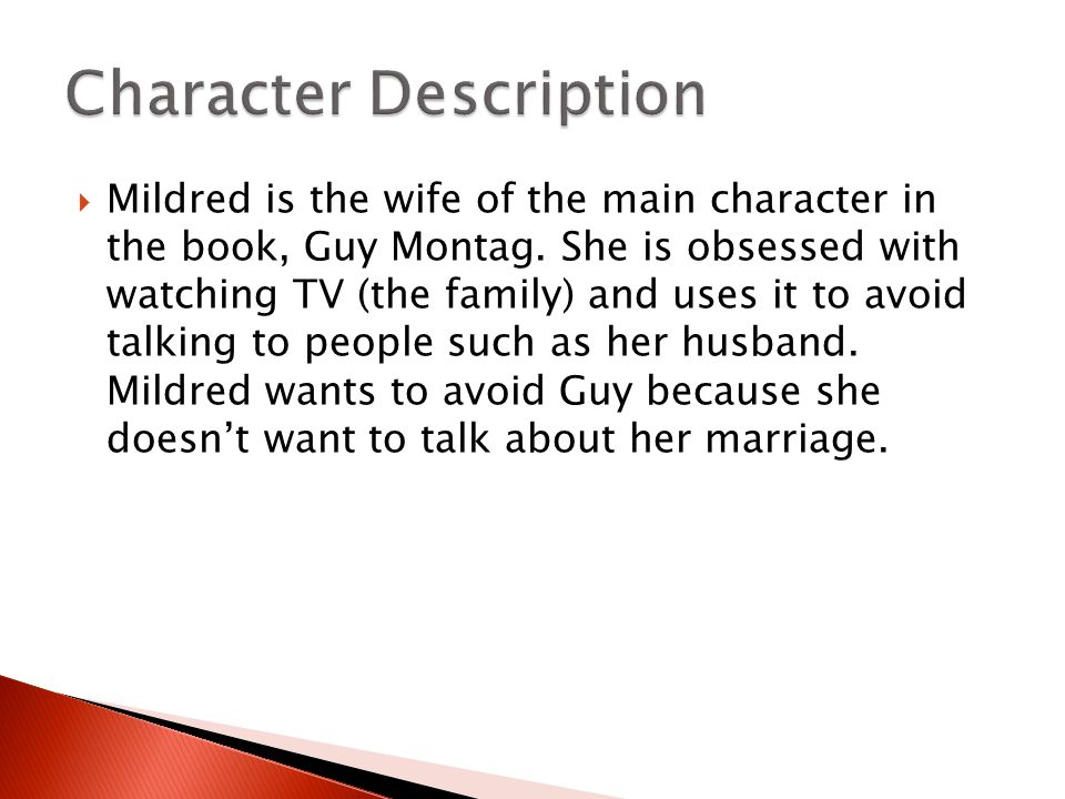 character analysis montag guy Get an answer for 'what are four of guy montag's personality traits in ray  bradbury's fahrenheit 451' and find homework help for other fahrenheit 451.