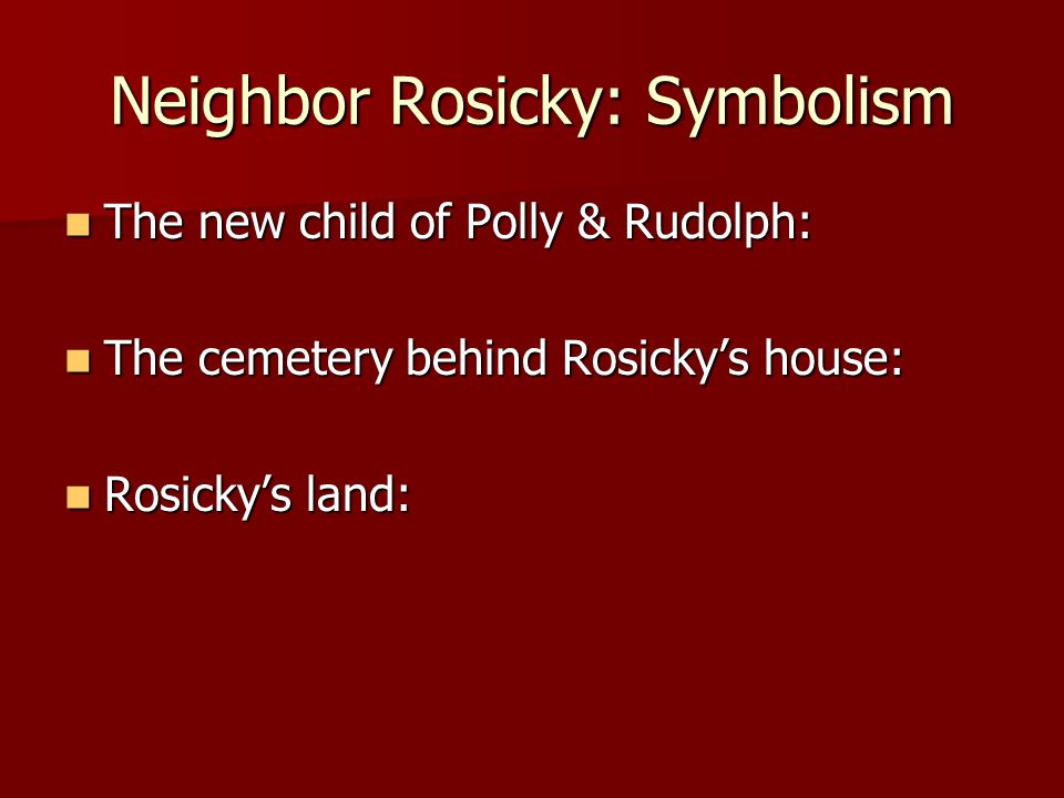 neighbour rosicky a story of man Anton rosicky was a very unique person who had an extremely high outlook on life he was an older man with a face full of character rosicky loved his farm and his.