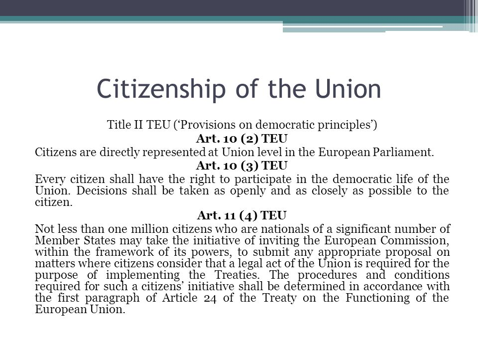 citizenship and the european union essay Citizenship at this level is a secondary concept, with rights deriving from national citizenship european union citizenship and social class and other essays.