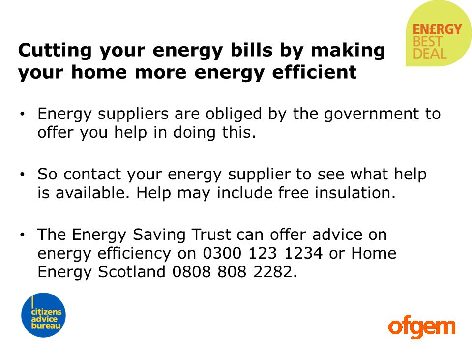 Cutting your energy bills by making your home more energy efficient