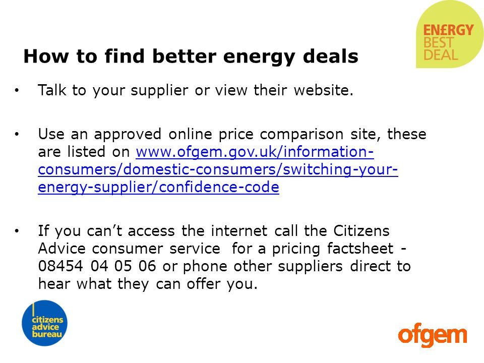 How to find better energy deals