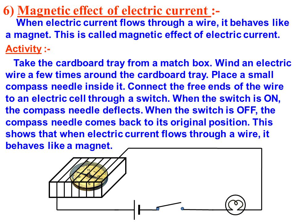 magnetic effect of electric current 2018-6-9  three discoveries challenged this foundation of magnetism, though first, in 1819, hans christian ørsted discovered that an electric current.