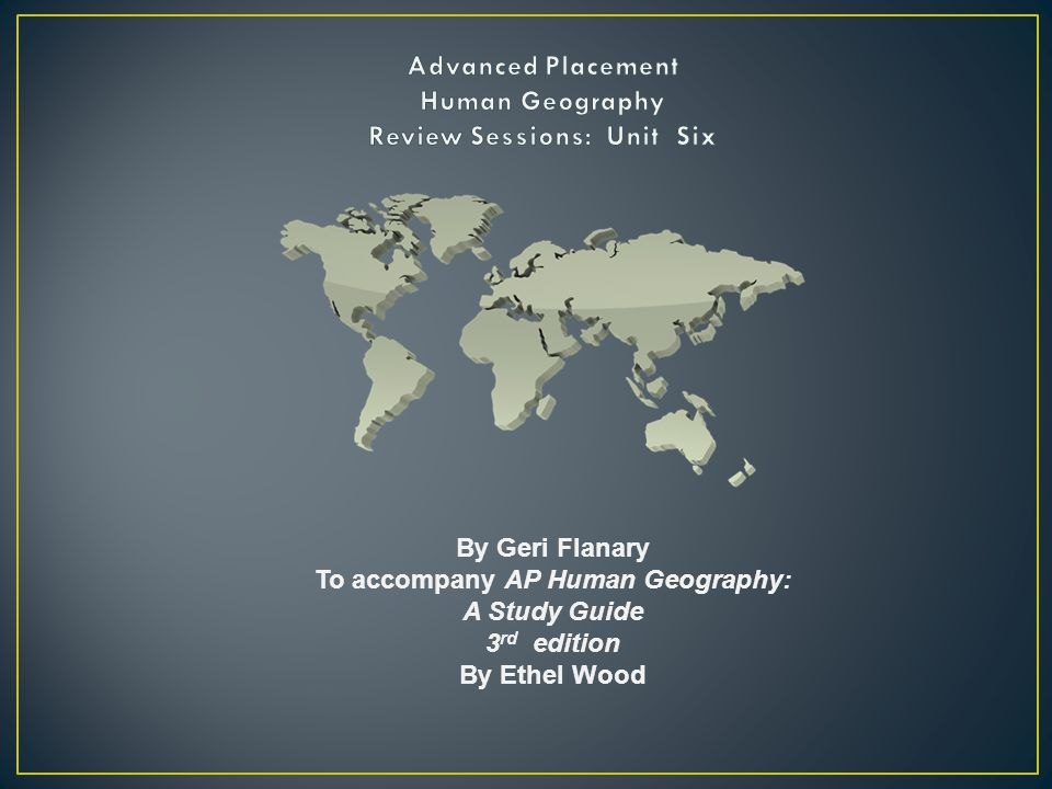 AP Human Geography Review | AP Practice Exams