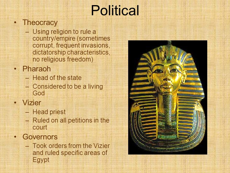 an overview of the political and religious system of ancient egypt Old kingdom of ancient egypt:  the earliest days of the israelites are shrouded in a mix of religious tradition and  historical overview of ancient israel.