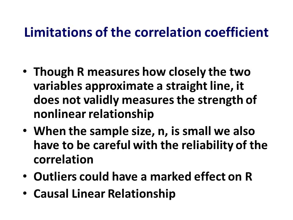 nonlinear relationship and correlation coefficient r2