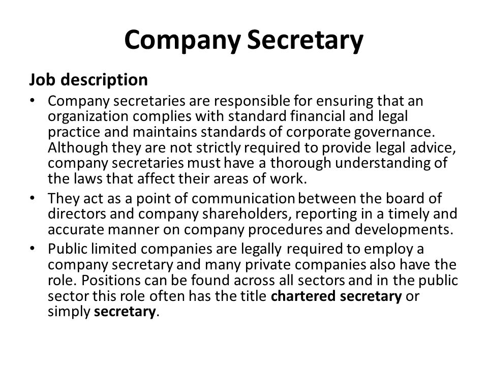 Secretary Job Description Executive Assistant Job Description