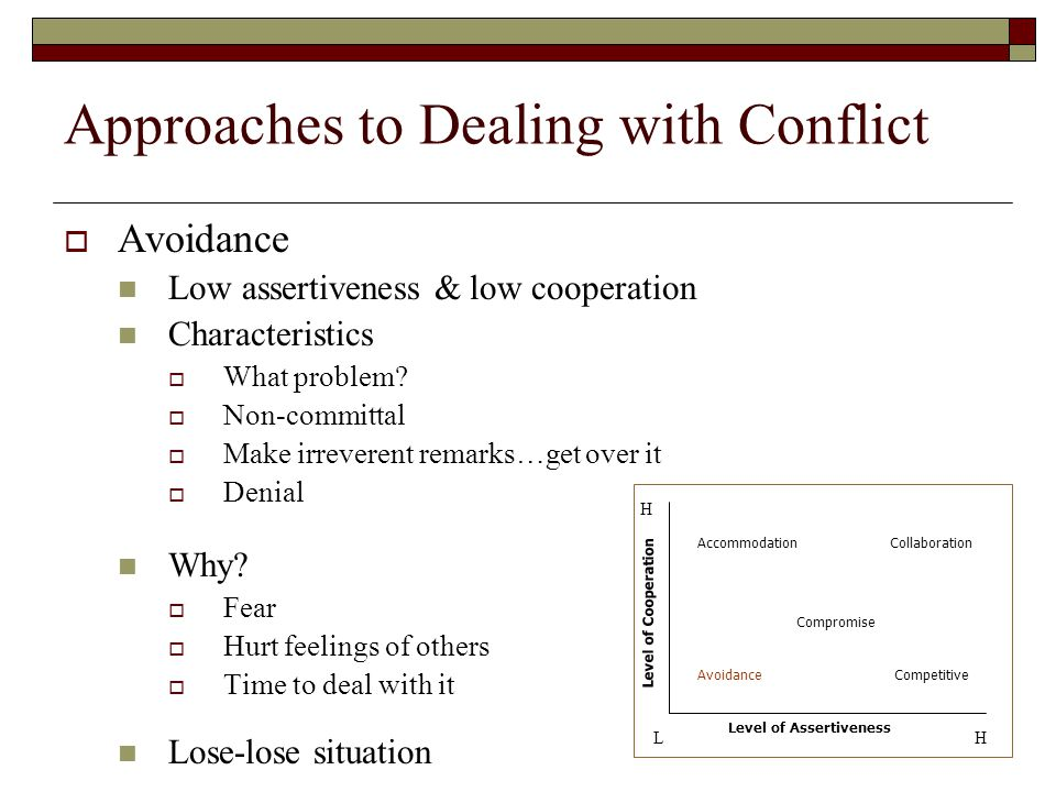 the stages of conflict and how to deal with it Free resolving conflict papers, essays  sources of conflict and dealing with it - there is immutable conflict at work in life and in business.
