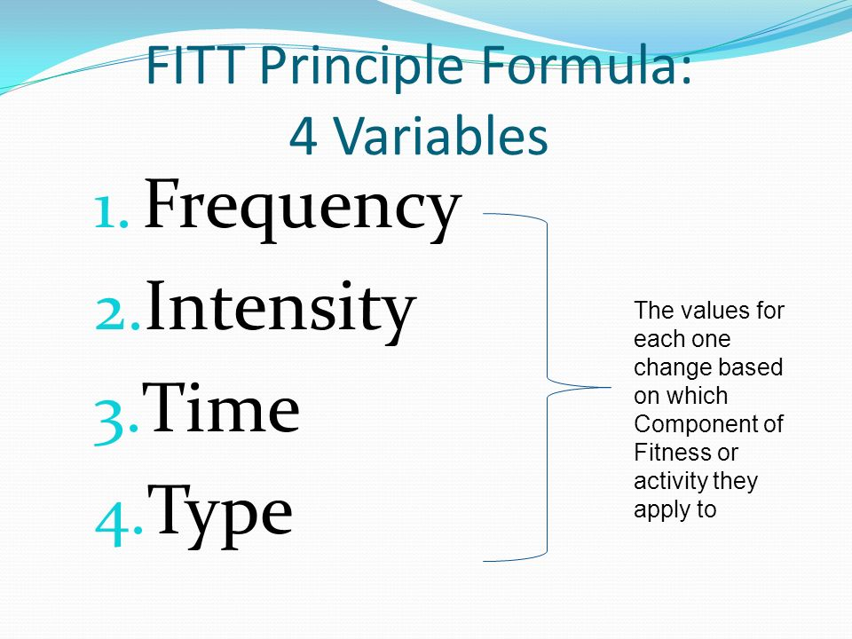 principles of muscular flexibility Note: specificity principle — you must work each muscle group to have fitt principle for muscular strength and endurance muscular strength and endurance—activity.