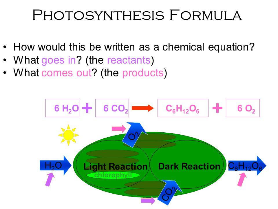 Photosythesis formula