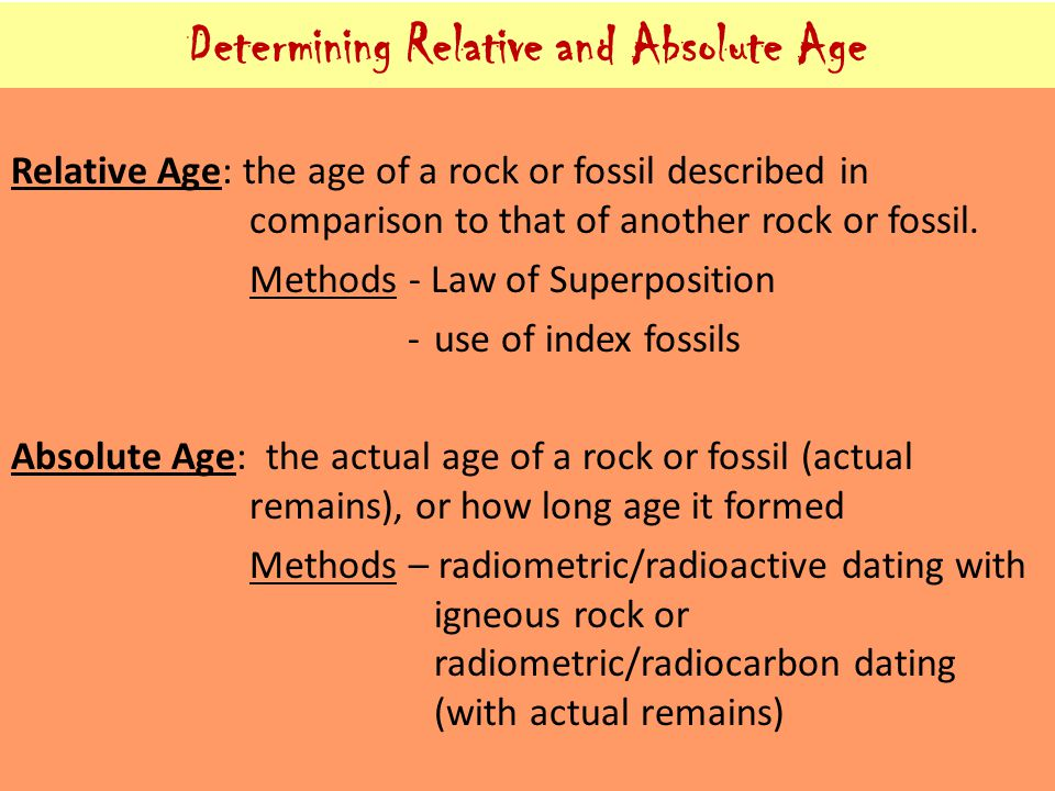 relative age dating and absolute