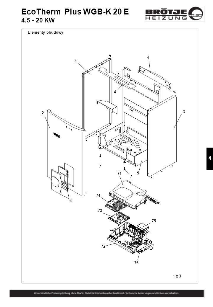 EcoTherm Plus WGB-K 20 E 4,5 - 20 KW Elementy obudowy 1 3 4 3 2 7 71 5