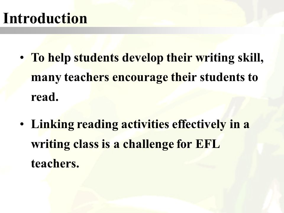 academic writing essay efl Teaching the academic argument in a university efl was necessary in order to assess their ability of writing an academic argument in an essay for teaching.