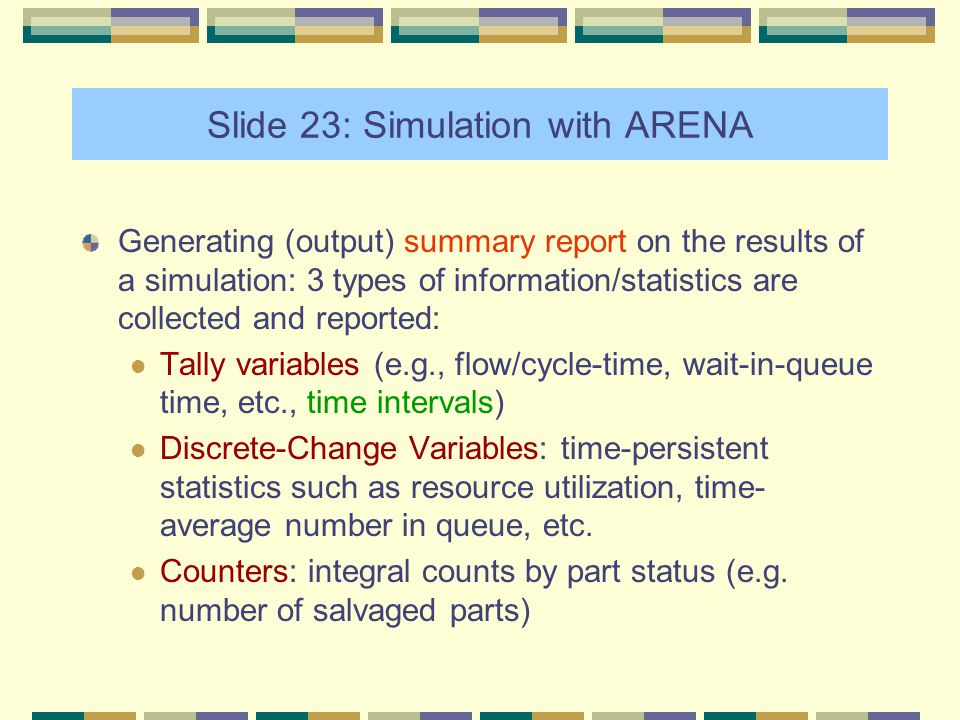 queuing simulation with arena Through arena simulation software, this investigation gives an estimation of how much processing time and queuing time the self-service check-in booths have been reduced, providing a quantitative .