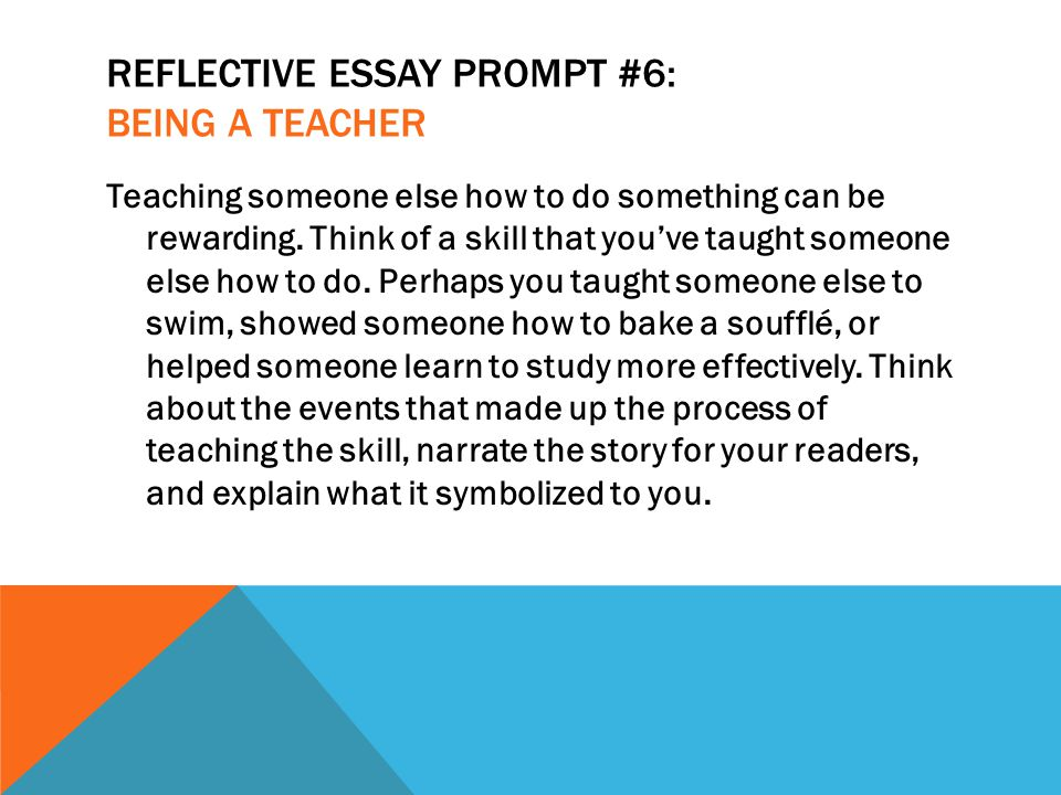 reflective essay on becoming a teacher Homepage writing samples  academic writing samples  essay samples  reflective essay samples  my dream career and how 06 sep '16 3680  being a writing teacher, being a teacher of english, and so on but there were several obstacles that were in my way in having a future writing career.