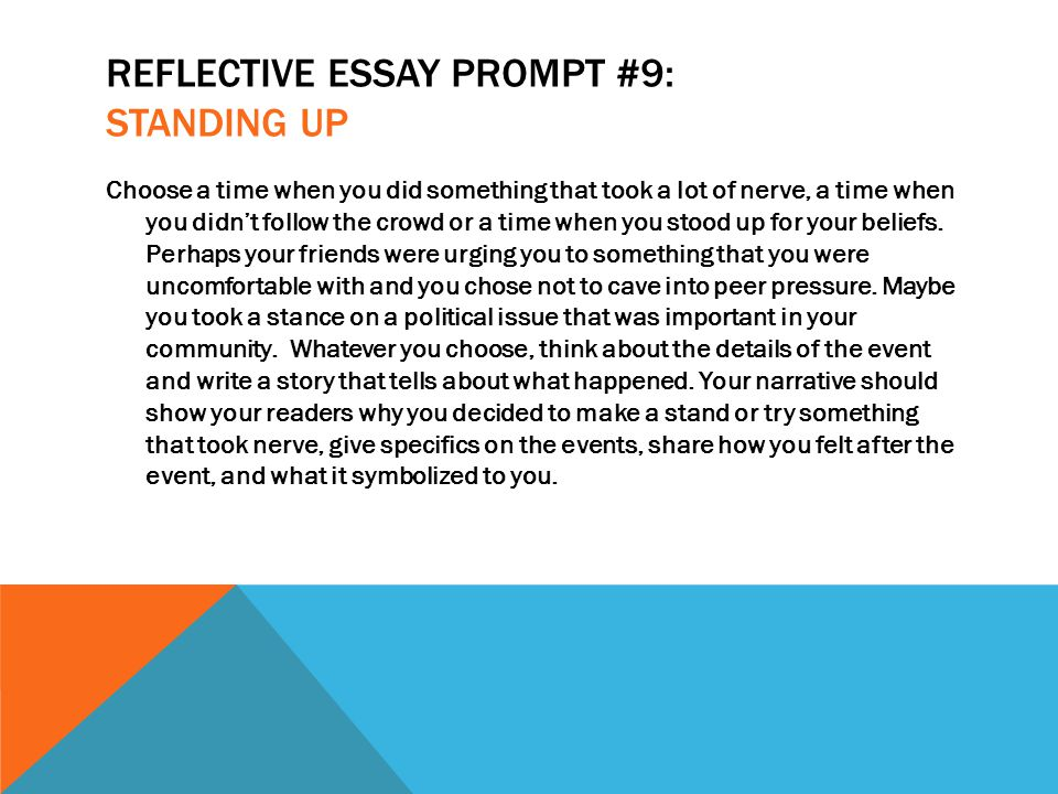 in a reflective essay you should answers.com Choosing the right reflective essay format, presenting original personalized content, sharing personal feelings and speculations all that is challenging and might take you a lot of time however, a sample reflective essay prevents from going around in a circle.