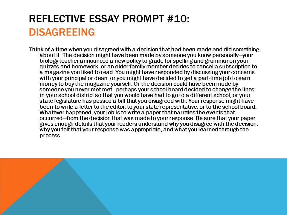 Reflective essay lesson