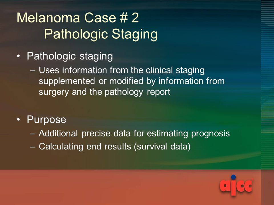 melanoma case National program of cancer registries education and training series how to collect high quality cancer surveillance data  answers  case 1 melanoma.