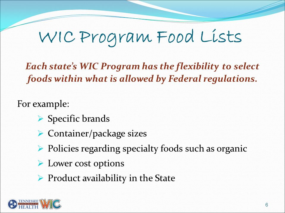 understanding the federal program or the wic program Texas department of state health services, women, infants and children  program (wic) texas wic food packages include fresh fruit,.