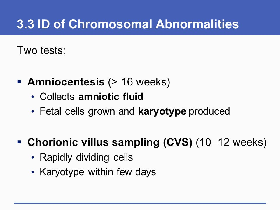 3.3 ID of Chromosomal Abnormalities