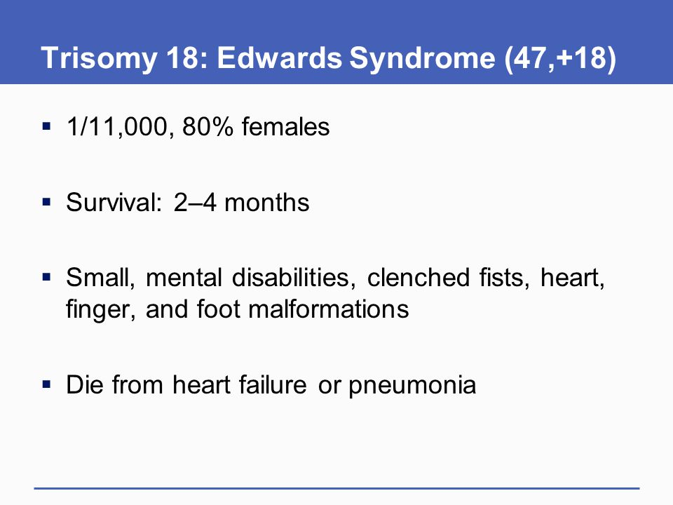 Trisomy 18: Edwards Syndrome (47,+18)