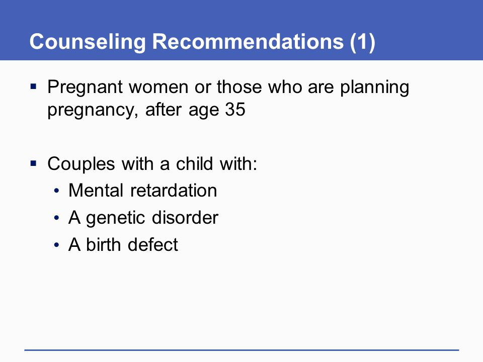 Counseling Recommendations (1)