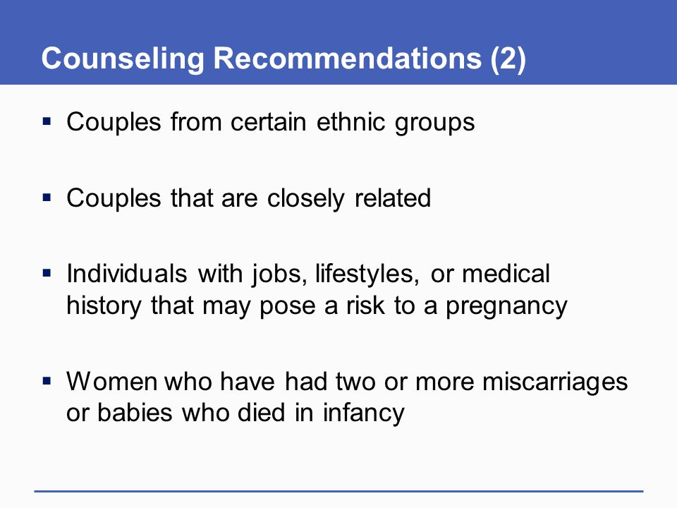Counseling Recommendations (2)