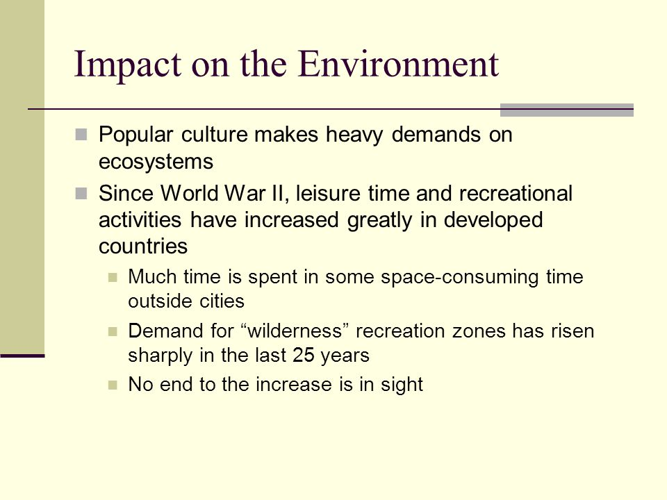 the impact of culture on ecological Internal environment in addition to a company's interactions with the market and its customers, socio-cultural factors also impact a company's internal decision-making process.