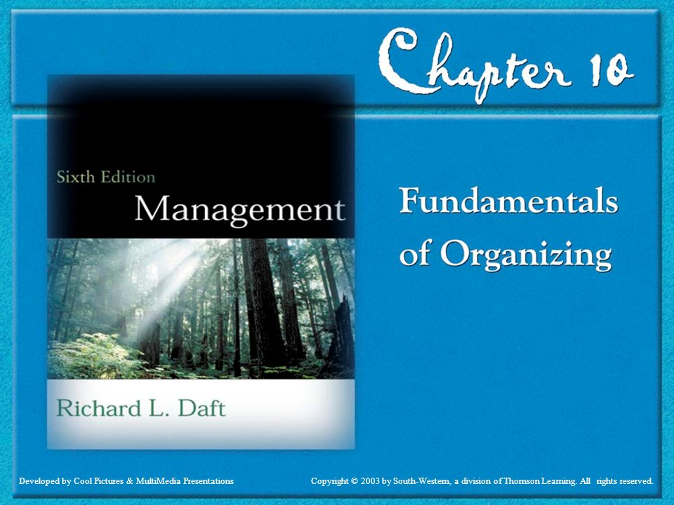 Daft 6th ed Fundamentals of Organizing